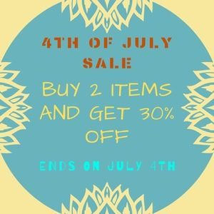 4TH of JUly Sale - Buy 2 Items And Get 30% OFF 🌸